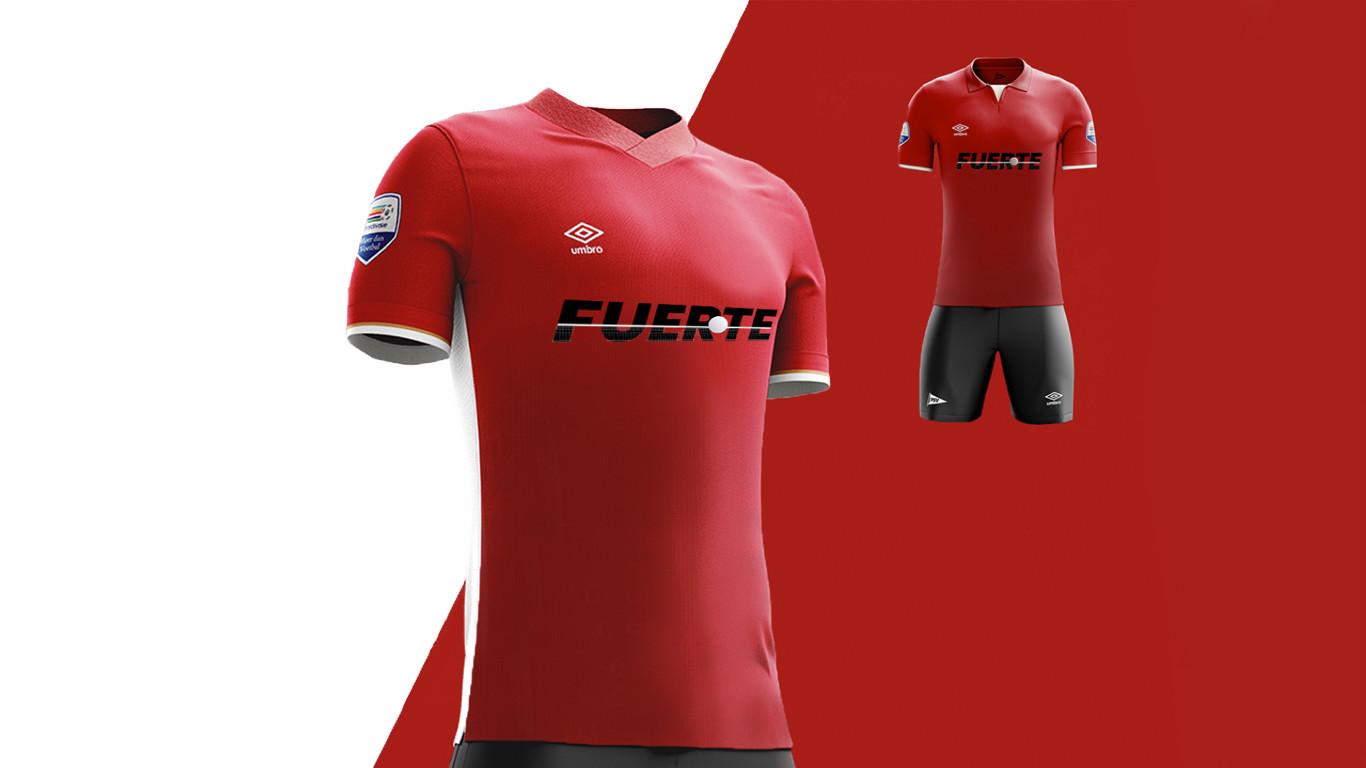 Fuerte красная футболка